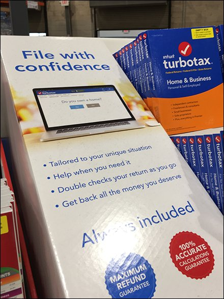 TurboTax Point-of-Purchase Pallet 3