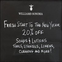Williams-Sonoma Off-To-A-Fresh-Start Entry Easel