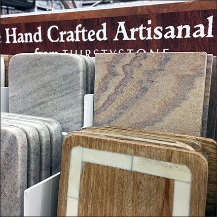 Artisanal Hand Crafted Coaster Display
