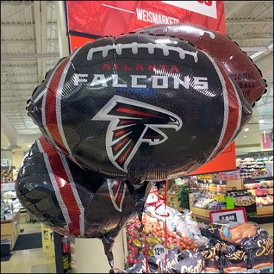 Super Bowl 51 Helium Balloons In Grocery