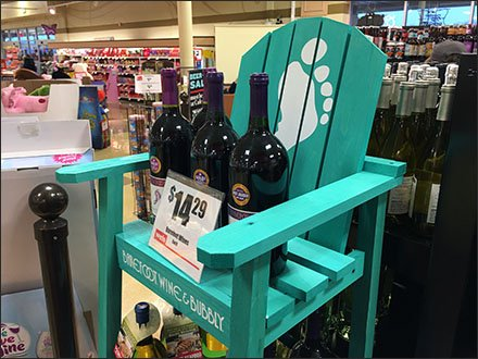 Barefoot Bubbly and Wine Lifeguard Chair