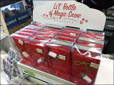 Magic Snow Corked-Bottle Necklace Display