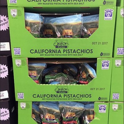 California Pistachio QR Code Pallet Display 2