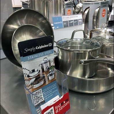 Calphalon Cookware Stainless Steel Table Top Display 2