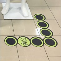 Live Your Workout Lincoln Penny Floor Graphic 3