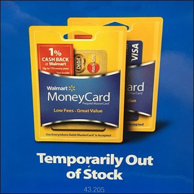 Money Card Out Of Stock Permanent Message Feature