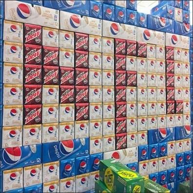 NFL Super Bowl Planogram For Pepsi and Mtn Dew