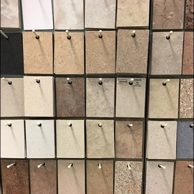 Pegged Sample Wall of Laminate