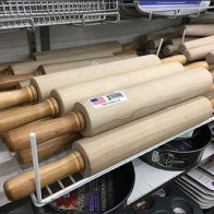 Pin-Stopped Rolling Pin Bakery Rack 2