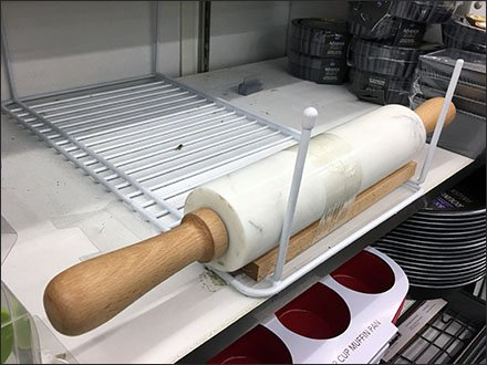 Pin-Stopped Rolling Pin Rack Inversion