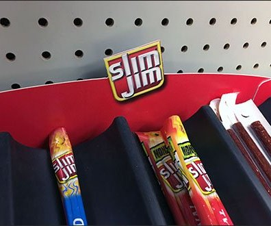 Slim Jim & Beef Jerky Table-Top Trays