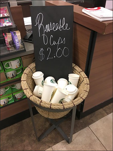 Starbucks Resusable Cups By The Basket