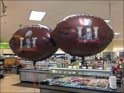 Wilson Super Bowl Football Balloon Branding