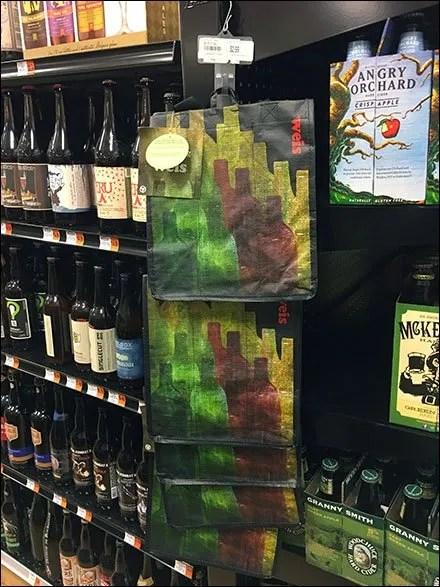 Wine-To-Go Carry Bag Strip Merchandiser