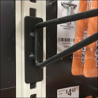Gondola Upright Merchandising Arm