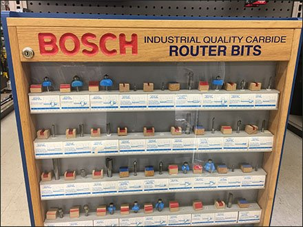Bosh Router Bit Endcap Display Case