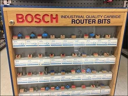 Bosh Router Bit Endcap Display Case