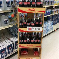 Wire Divider Upgrade to Wood Coca-Cola Display