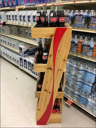 Coca Cola Coke Wood Wire Divided Rack 2