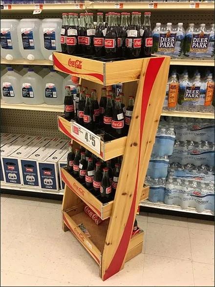 Wire Divider Upgrade To Wood Coca Cola Display Fixtures