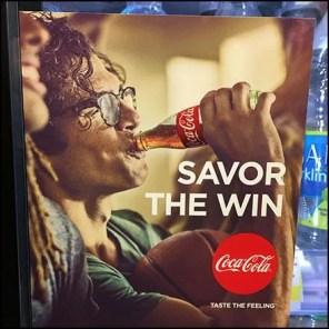 Coca Cola Cooler Door Savor The Win