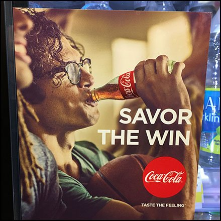 Coca Cola Cooler Door Savor The Win