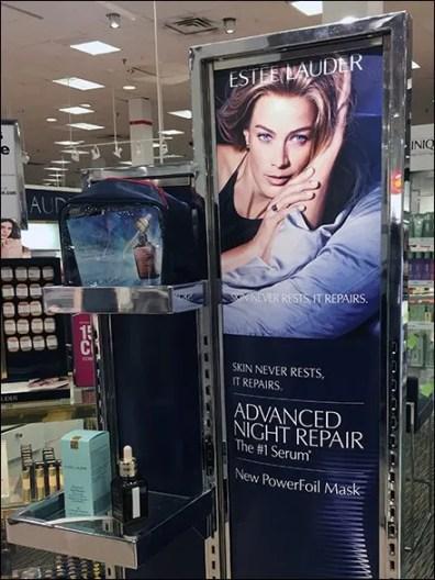 Estee Lauder Minimalist Night Repair Serum Beauty Mask Display