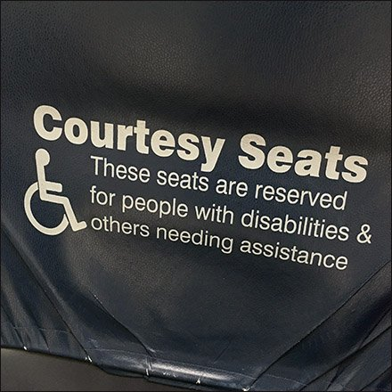 Handicapped Only Courtesy Seating Feature