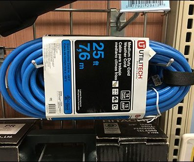 Gridwall Horizontal Hang Extension Cords