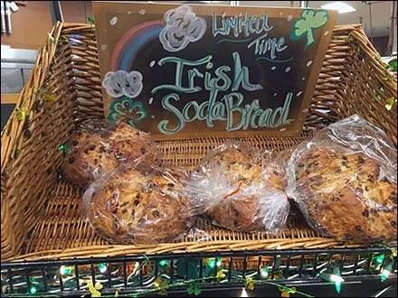 Irish Soda Bread Wicker Basket Limited Time Offer