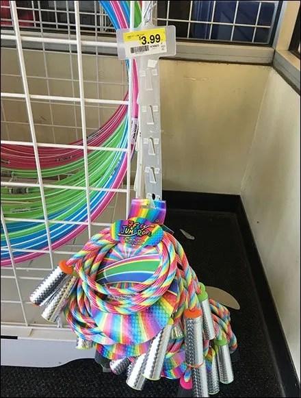 Jump Rope Strip Merchandiser by 7 Feet