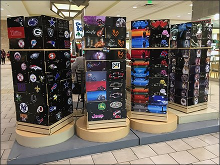 License Plate Mall Floor Stand Tower Spinners