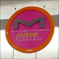 Maidenform Girl Circular Branding Ceiling Sign