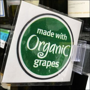 Organic Wine Grip Clip Flag Feature