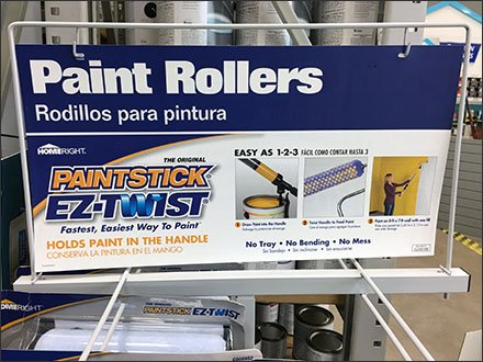 PaintStick Roll-About Display Rack