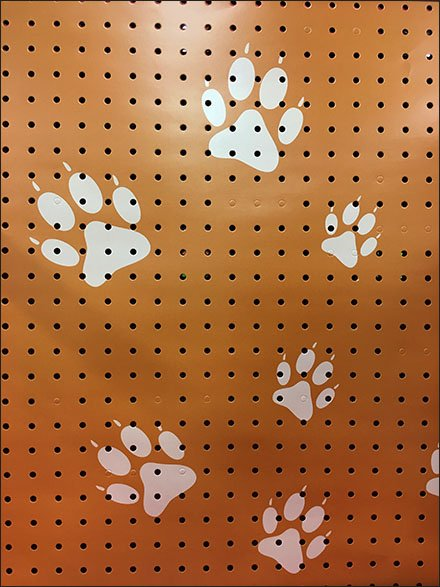 Paw Print Skinz Icon for Pet Pegboard