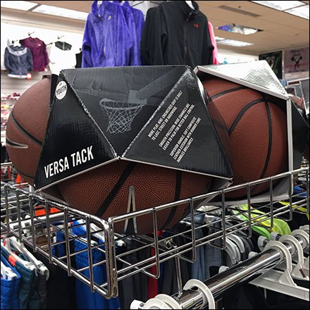 Rack-Top Rectangular Bin for Basketballs