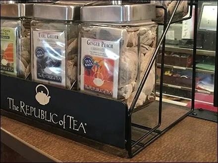 Republic of Tea Branded Rack At Panera Bread