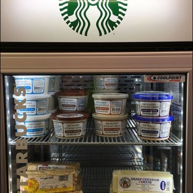 Goldteins StarBucks Cheese Cooler Repurposing