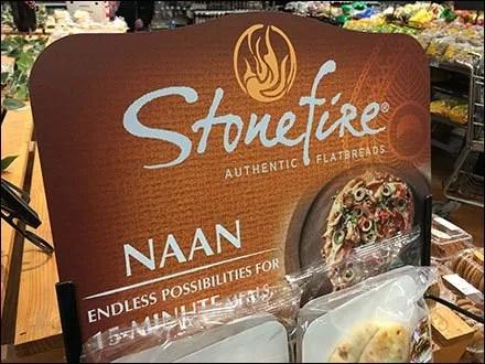 Stonefire Naan Flatbread Rack Merchandising