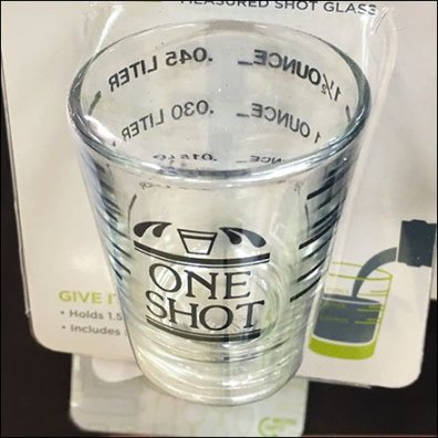 True Drinking Buddies Measuring Shot Glass Feature