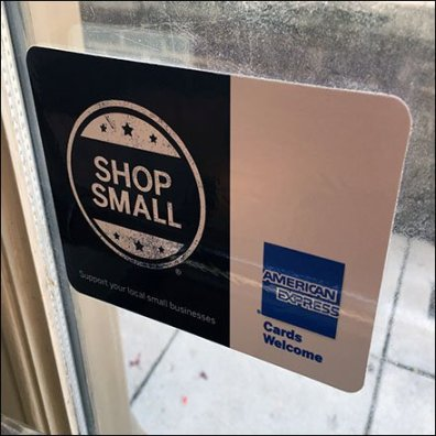 Shop Small Local Business Sign