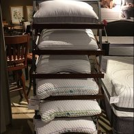 Arched Pillow Display Tower Is Multi-Level