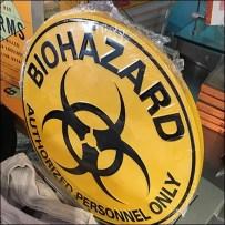 Biohazard Acrylic Easel Table Stand