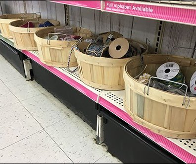 Birch Baskets as Bulk Bins for Crafts