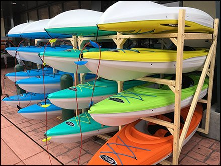 Do-It-Yourself Kayak Merchandising Racks