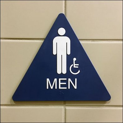 Restroom Gender Sign Shapes In Retail