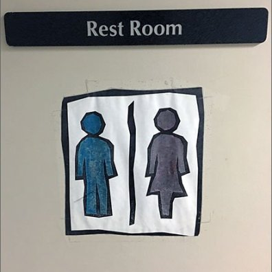 Do-It-Yourself Restroom Unisex Sign