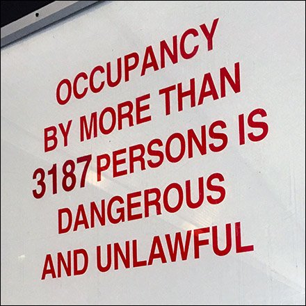 Restroom Occupancy Limit 3187 Persons