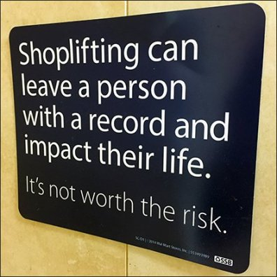 Shopplifting Leaves a Record Warning Feature